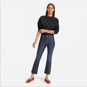 NEW Everlane High Rise Kick Crop Denim Jeans